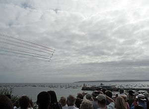 Red Arrows Departing, Poole Bay