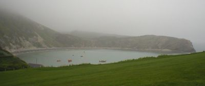 Lulworth Cove,  foggy day