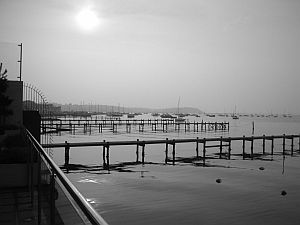 Poole Harbour, foggy day-
