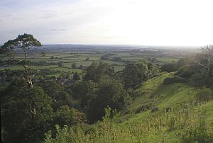 View from South Cadbury Hill-fort