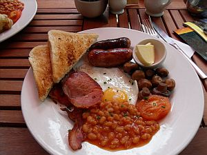Full English Breakfast, Dorchester cafe