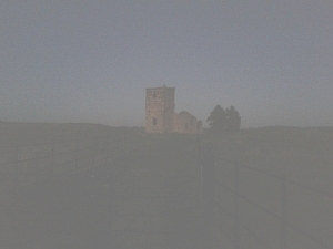Knowlton Church, December Dusk