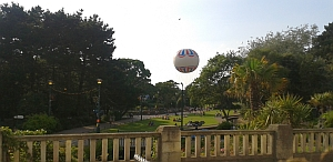 view from Terrace Bistro over Bournemouth Central Gardens