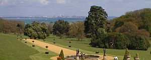 view of the Solent from Osborne