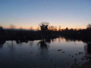Winter Solstice Sundown, River Frome